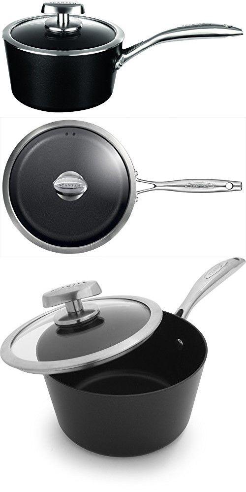 Scanpan PRO IQ Nonstick Covered Saucepan, 2 quart, Black