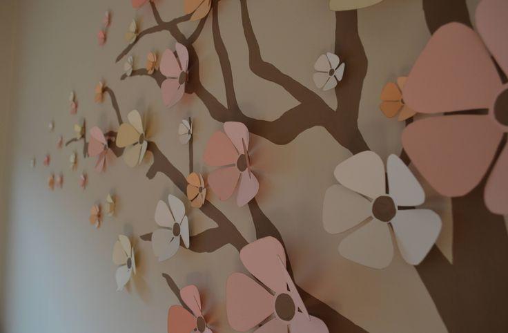 Blanka babaszobája 3D virág faldekor Baba szoba Baby room Wall decor