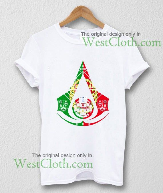 Assassins Creed Portugal Logo T-shirt Assassins Creed Portugal Logo shirt available for toddler and youth and men and women adults