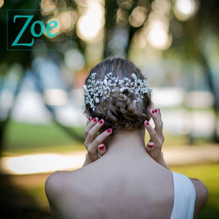 #headpiece #bride #wedding #bridal #hair #handmade #tocados #novias #ZoeNovias #Chile / zoetocadosdenovia@gmail.com