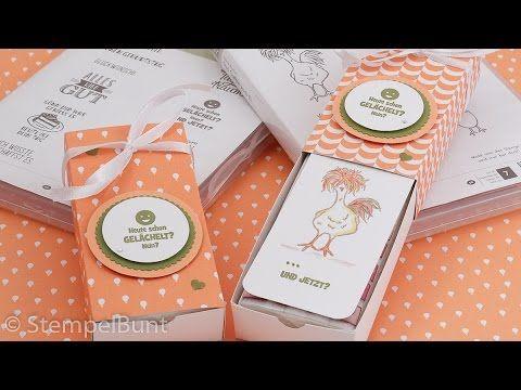 Gute Besserung - Box mit Produkten von Stampin'Up!® (cm+inch) - YouTube
