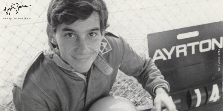 Ayrton Senna na Inglaterra em 1981   Ayrton Senna