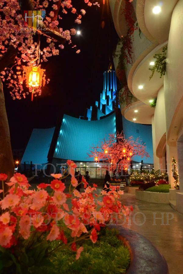Hermosa Imagen del templo desde un costado de la Casa Grande