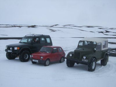 Land Rover, Fiat and Gaz 69