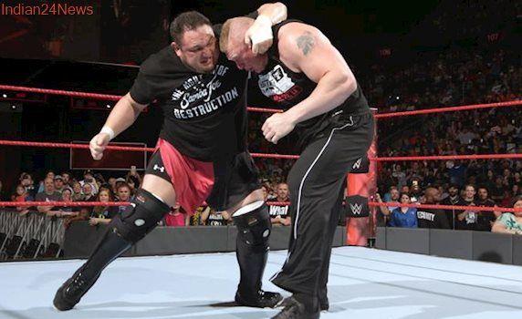 WWE Raw: Entire locker room needed to separate Brock Lesnar and Samoa Joe, watch video