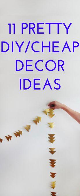 11 cheap/DIY decor ideas to try