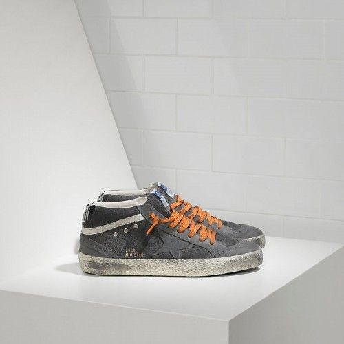 Nuovi Ggdb Mid Star Sneakers Golden Goose Scarpe Grigio Arancione Saldi