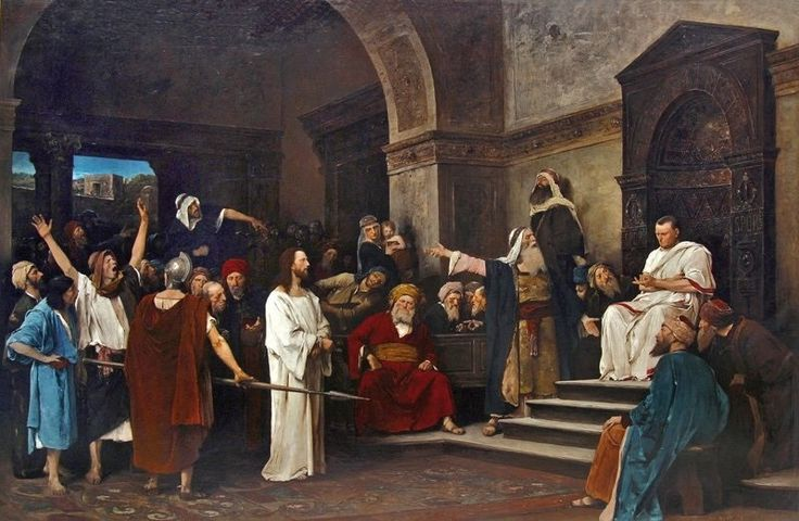 MIHÁLY MUNKÁCSY (1844-1900): CHRIST IN FRONT OF PILATE (1881)