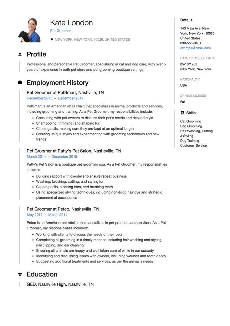 Restaurant Hostess Resume Sample, Template, Example, CV Resume