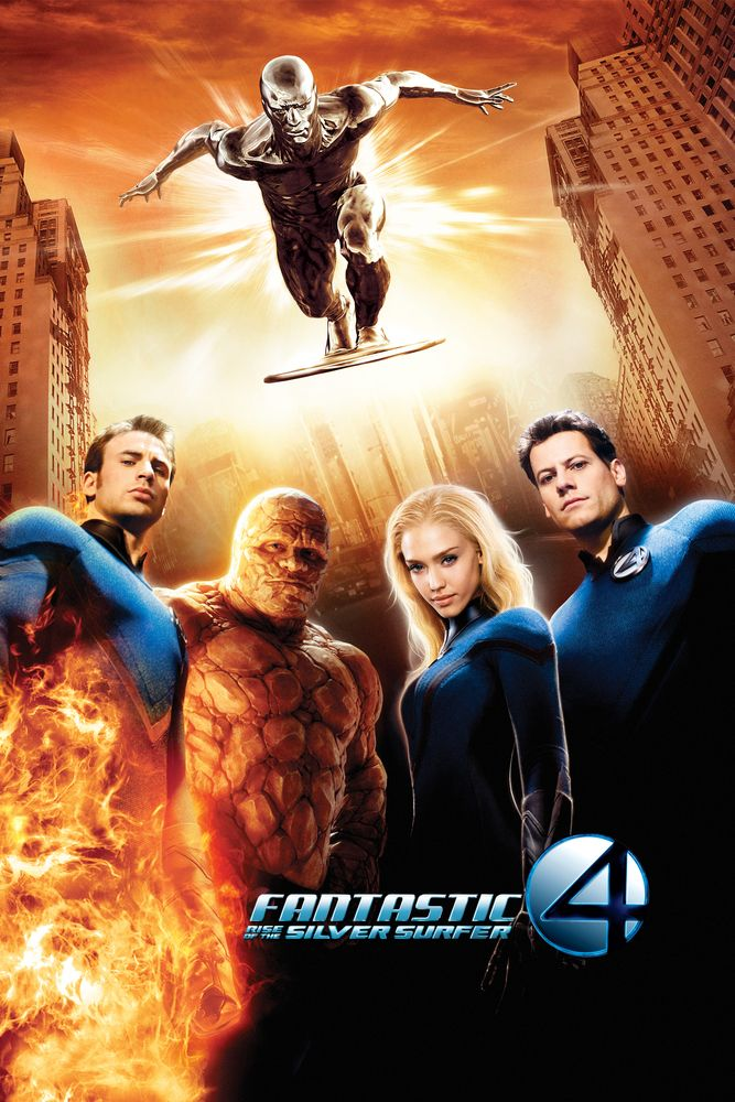 Fantastic Four: Rise of the Silver Surfer Movie Poster - Ioan Gruffudd, Jessica Alba, Chris Evans  #FantasticFour, #RiseoftheSilverSurfer, #MoviePoster, #FiFantasy, #TimStory, #ChrisEvans, #IoanGruffudd, #JessicaAlba