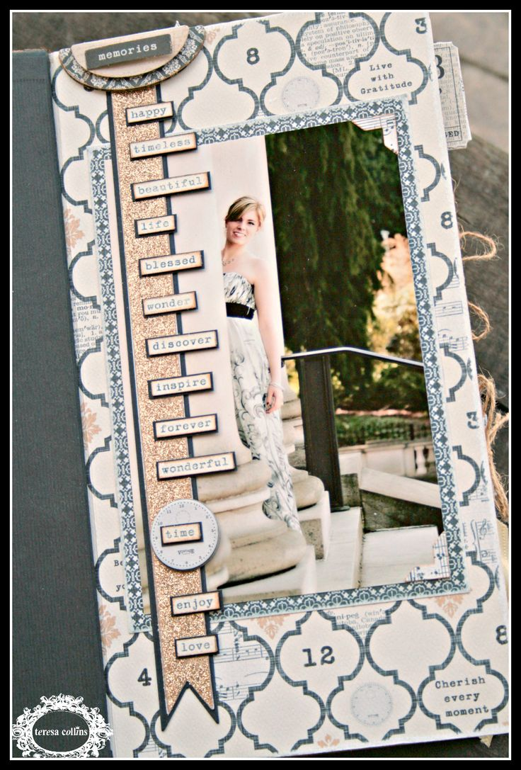 Scrapbook ideas mini books - Prom Layout Idea Cherinspirations Another Mini Book Using Vintage Finds And E S Prom Photo S