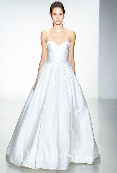 "Brides.com: . ""Jill"" silk Mikado ballgown with a seamed bodice and pleated skirt, Kelly Faetanini"
