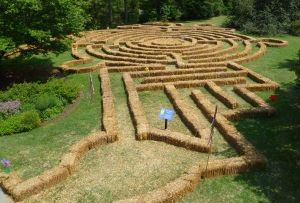 A great looking straw bale maze - a sentence I never thought could be said. Norfolk Botanical Garden.
