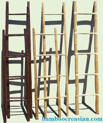 Quality Bamboo and Asian Thatch: Bamboo Ladder/Bamboo Ladder towel/Painted bamboo ladder/painted ladder/Ladder towel rack