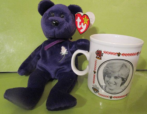 Ty Beanie Baby / Princess Diana / PE Pellets /AND