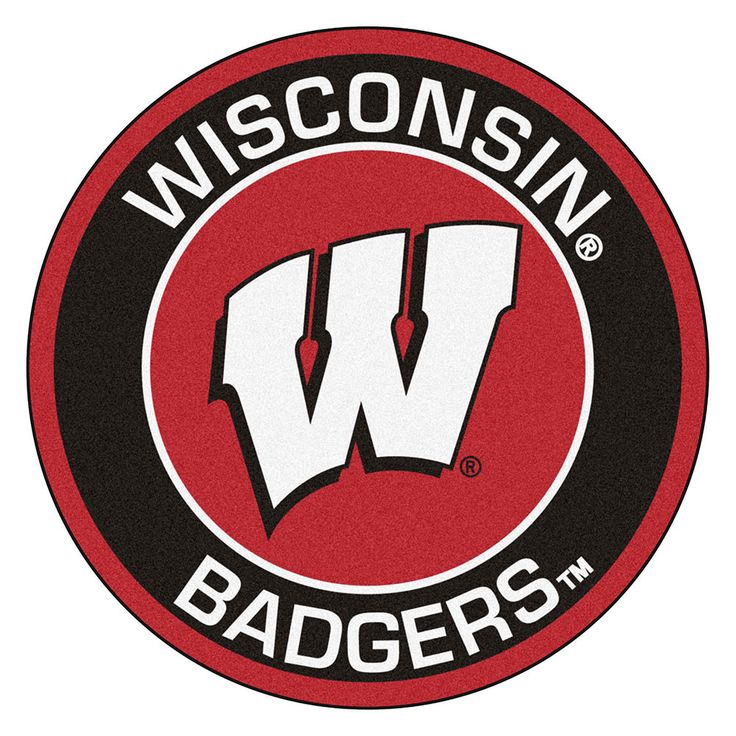 Wisconsin Badgers Rounded Floor Mat (29in) | Round area ...