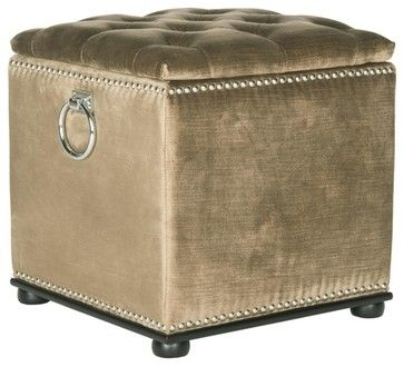 Flora Ottoman - transitional - Ottomans And Cubes - Pacific Rug & Home