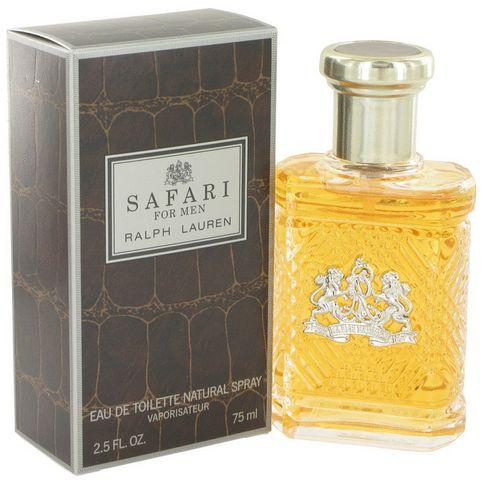 Safari for Men by Ralph Lauren. Safari Ralph Lauren is an intoxicatingly masculine fragrance with blends of lemon, eucalyptus, and juniper.