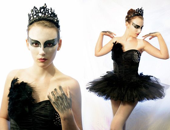 Black Swan Halloween Costume (by Kelsey M) http://lookbook.nu/look/2621579-Black-Swan-Halloween-Costume