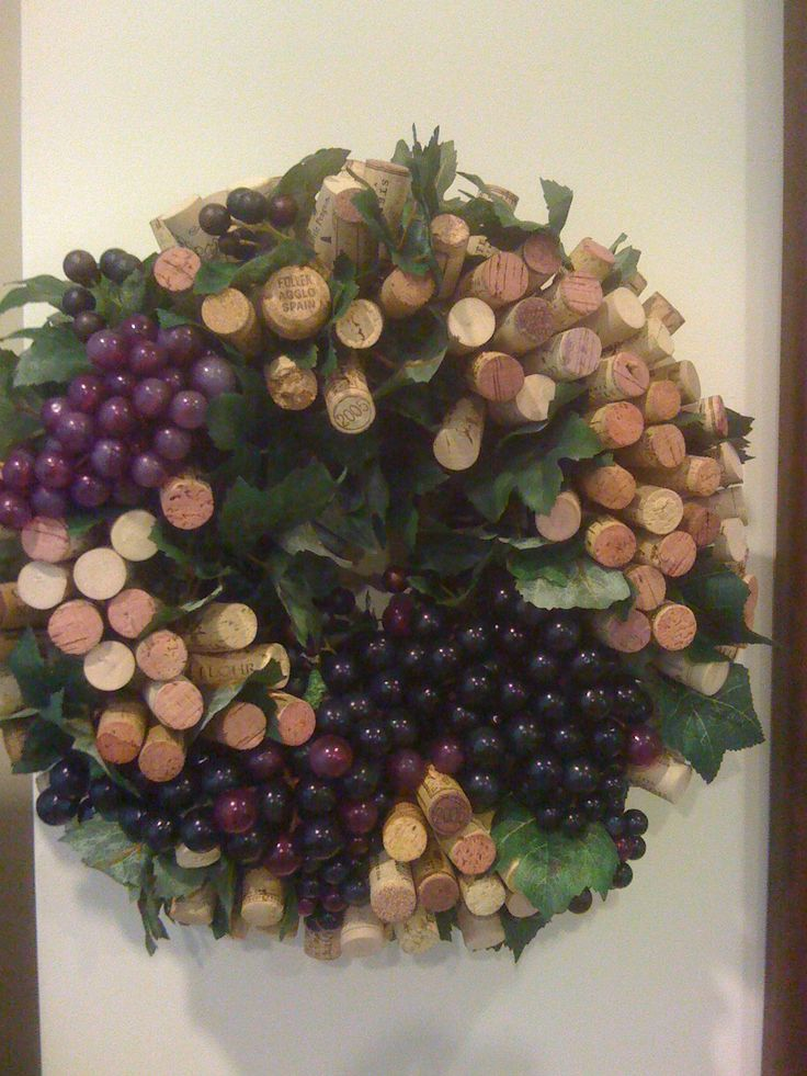 Wine Cork Wreath - made from world-wide wine corks