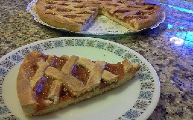 Crostata alla marmellata con il microonde, piatto crisp   - #crostata #microonde #piattocrisp