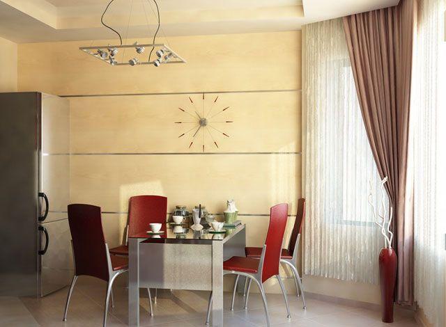 тюль и шторы для кухни с эркером