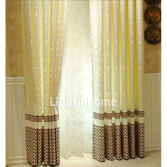 Asia Designer Patterned Noise Reducing Yellow Bedroom