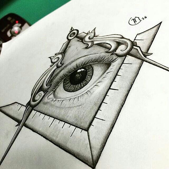 Square and Compass All Seeing Eye