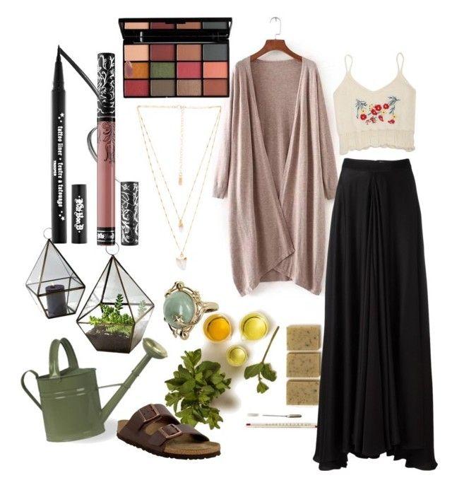 holistic healer by enujahtnamas on Polyvore featuring polyvore fashion style Lanvin Birkenstock Natalie B Vintage Kat Von D clothing