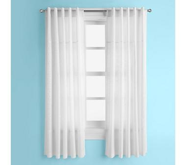 white eyelet curtain