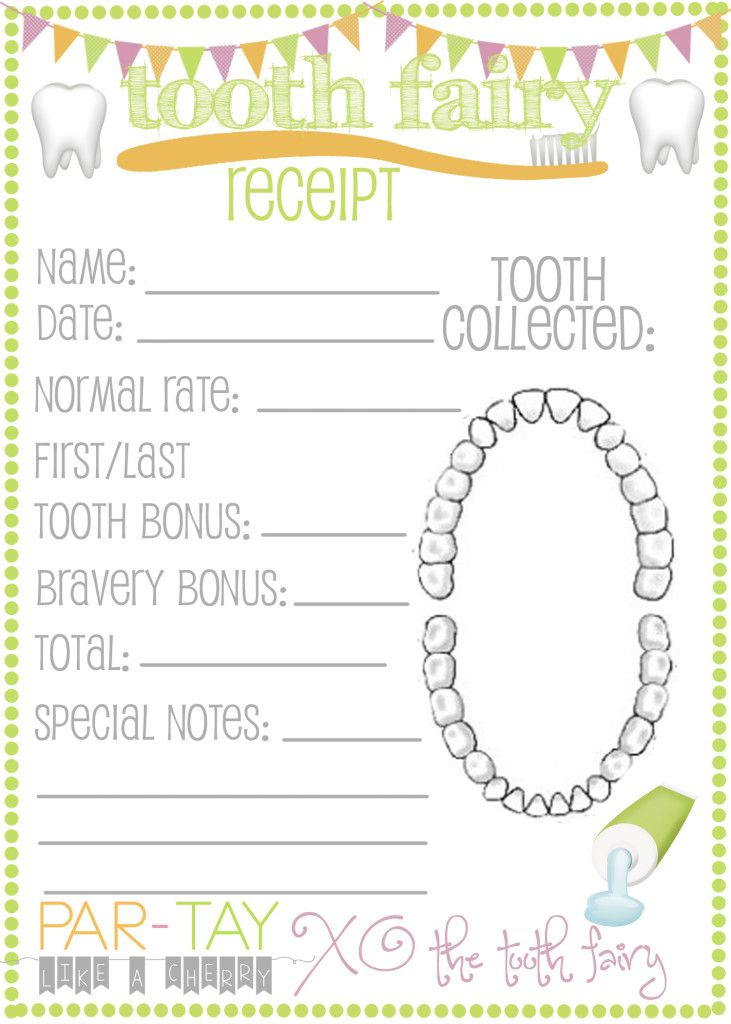 25 best ideas about Tooth Fairy Receipt – Printable Receipt Free