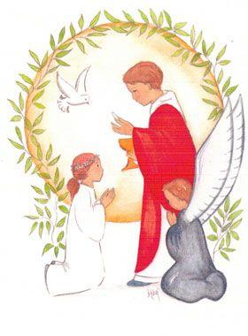 Carte de Communion - Première Communion Fille