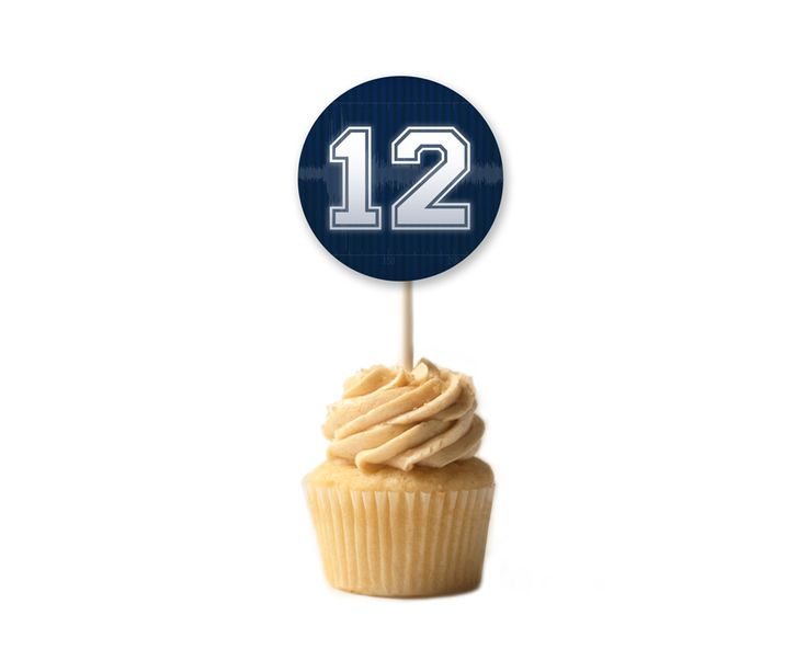 Free Seattle Seahwaks Cupcake Toppers for Super Bowl XLVIII | By Modern Moments Designs