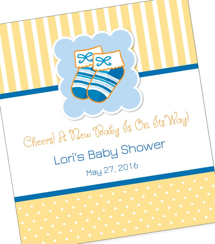 21 best must see baby shower wine label ideas images on pinterest baby booties custom wine label negle Image collections