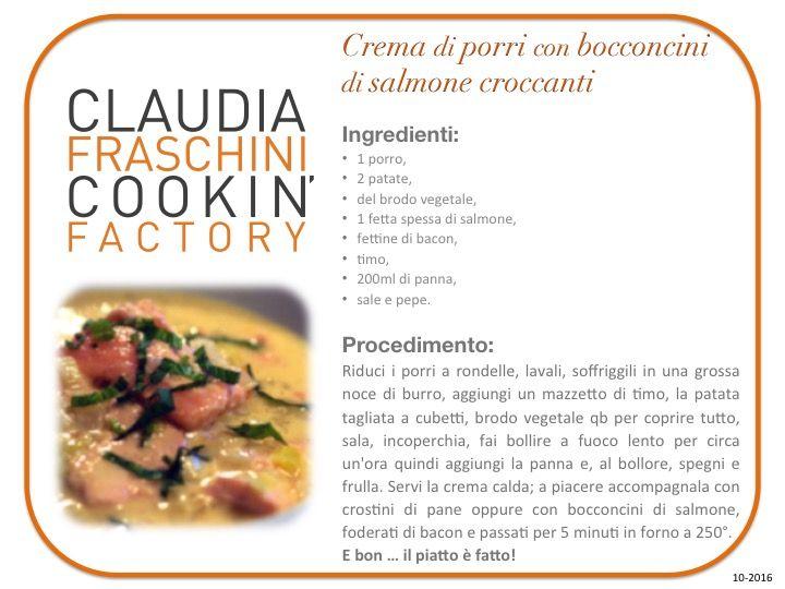 #cremadiporri con #bocconcini di #salmone #food #instagood #fodoporn #solocosebuone #BonapeT