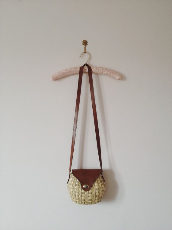 vintage wicker basket bag by lippedlove on Etsy, $30.00