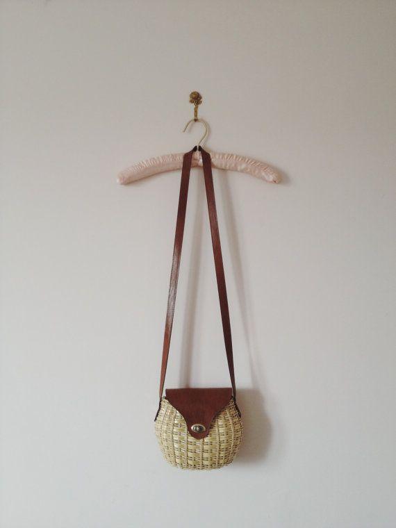 vintage wicker basket bag by lippedlove on Etsy, $30.00