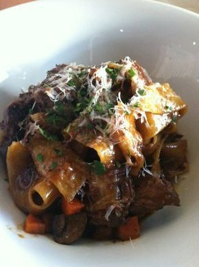 Pappardelle with Braised Short Rib--Bobby Flay