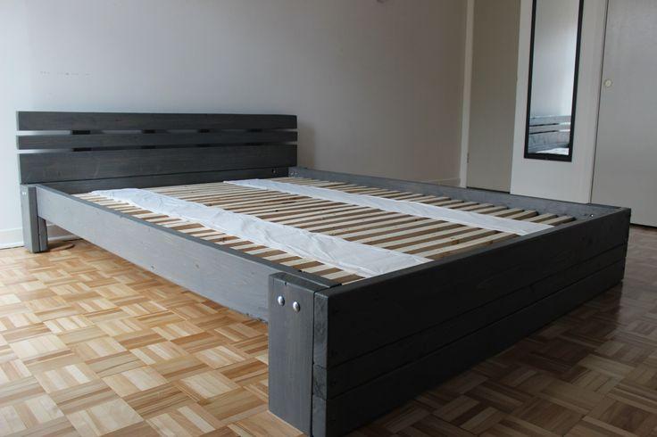 Les 25 meilleures id es de la cat gorie construire un lit - Fabriquer un lit ...