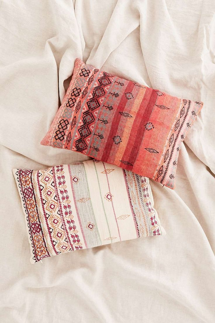 Agda Embroidered Yarn Pillow