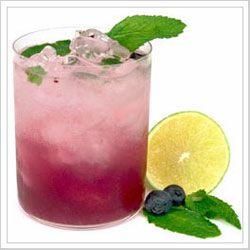 Closest thing I could find to The Cheesecake Factory blueberry mojito that I so dearly LOVE!