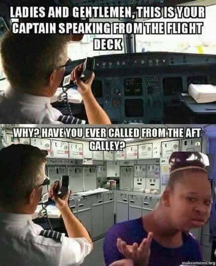 PMSL!!!!!!!! 😂😂😂😂😂😂 #confessionsofatrolleydolly #crewlife #PILF #captainknobhead