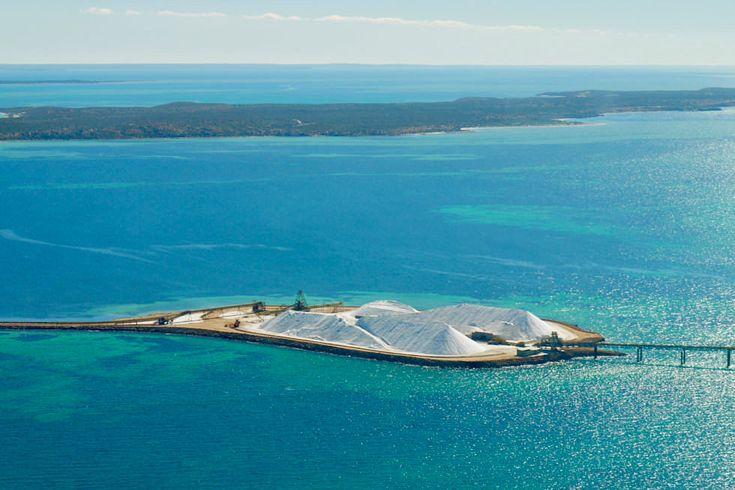 Shark Bay Scenic Flight - Salzgewinnung Useless Loop - Western Australia