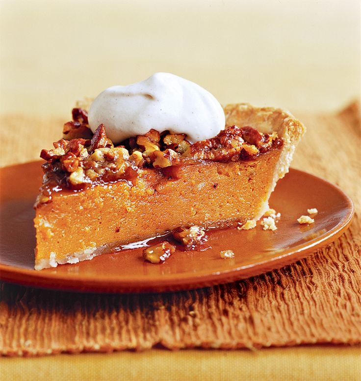 A sweet-potato filling with a maple-flavored pecan topping is the ideal compromise for bakers who would like both a sweet potato and a pecan pie (but don't want to spend an entire day in the kitchen).