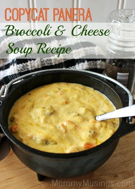 Nom, Nom Comfort Food! SO GOOD!! Panera Bread Copycat: Broccoli Cheddar Soup Recipe -