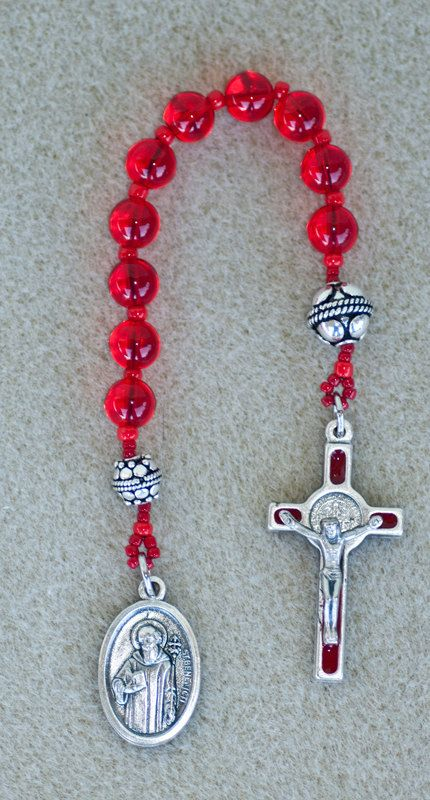 Handmade Single Decade Pocket Rosary with St. by MelindaFayStudio