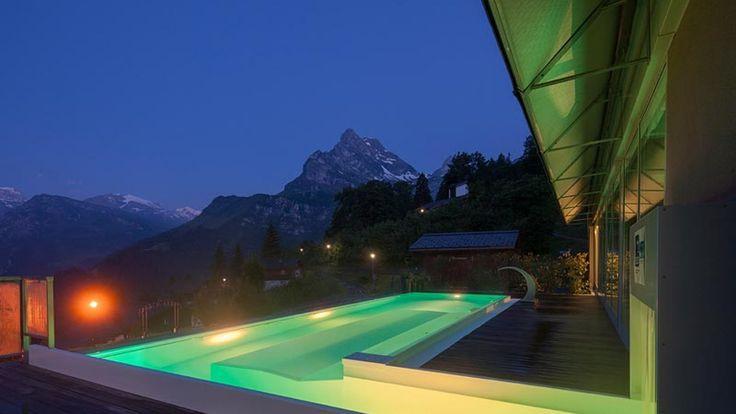 outdoor modern pool decking