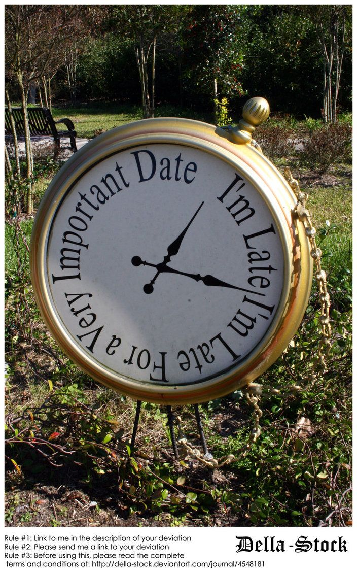 Alice in Wonderland Clock by ~Della-Stock on deviantART