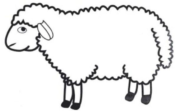 Le Gabarit Du Mouton Coloriage Mouton