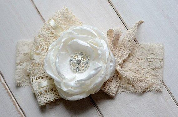 Flower Girl Headband Ivory Lace Headband by FeatherRiverBoutique, $15.00